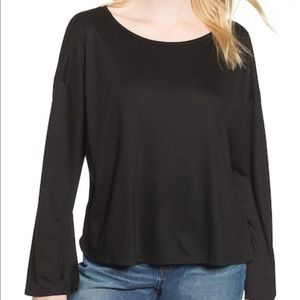 Madewell Libretto Wide Sleeve Black Top